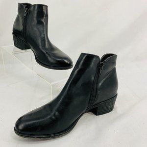 Xappeal Colby Black Booties Smooth Vegan Leather